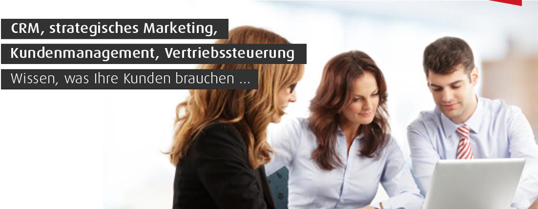 CRM, strategisches Marketing, Kundenmanagement, Vertriebsteuerung, Wissen was Ihre Kunden brauchen.