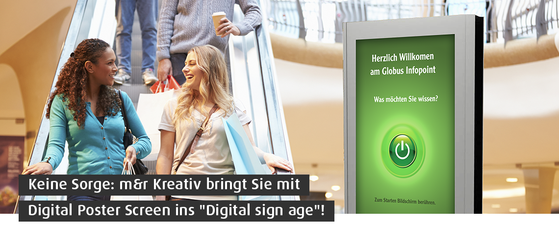 Digital Signage Solution - Maßgeschneiderter Content
